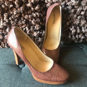 NWOT - Michael Kors Pumps - Snakeskin Design